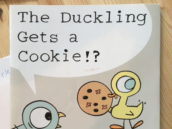 THE DUCKLING GETS A COOKIE!? picture book cover
